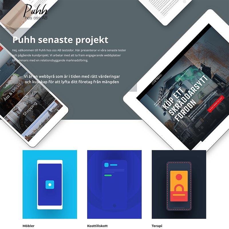 Testas.se projekt sida